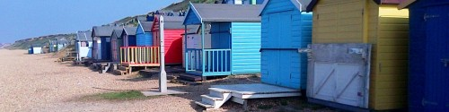 Beach huts near Milford on Sea