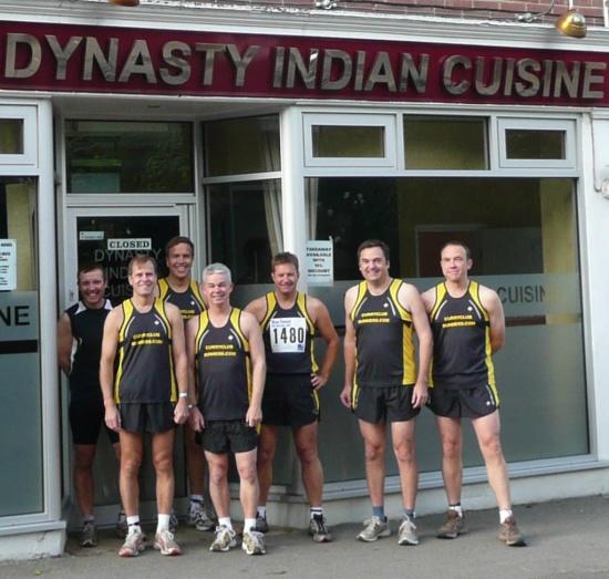 The Curry Club runners at the Dynasty RestaurantBrockenhurst