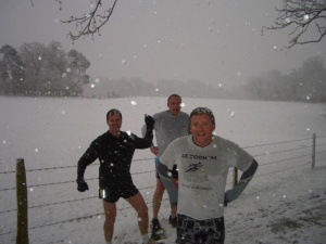 Bob, Nigel and Russ in Royden Woods